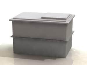 Two Piece Water Storage Tank