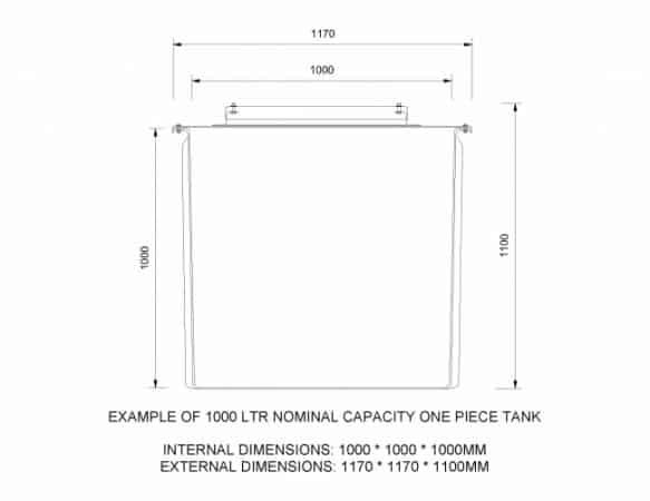 Water tanks standard sizes wras approved for Standard fish tank sizes